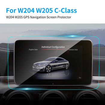 TPU Car GPS Navigation Screen Protector HD Clear TPU Screen Protective Film for Mercedes Benz W204 W205 C Class Car Accessories image
