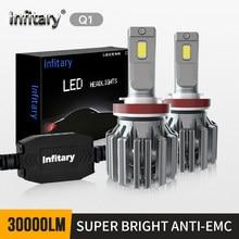 Infitary 2pcs Q1 30000LM ERRO canbus livre super brilhante farol do carro lâmpada H1 H11 led H7 HB3 9006 HB4 H4 H27 880 881 9005 9012