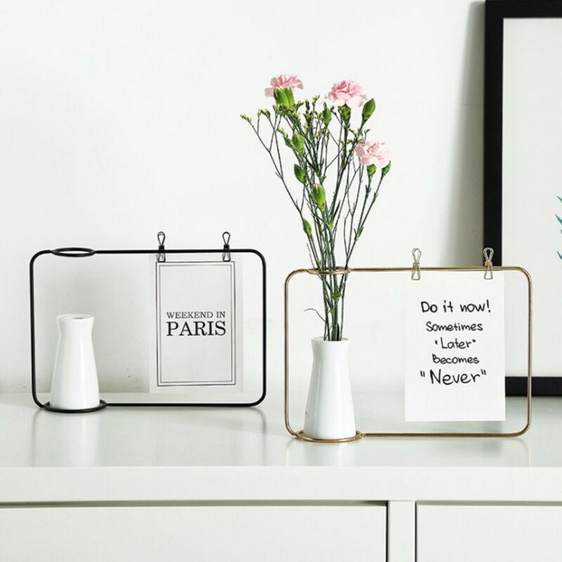 9.97US $  Creative Art Style Retro Iron Line Flowers Vase Metal Plant Holder Modern Solid Nordic Sty...