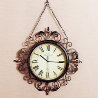 Metal Large Retro Wall Clock Iron American Country Shabby Chic Living Room Art Clocks and Quartz Watches B60