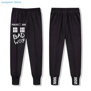 Мужские длинные штаны Bad Wolf с изображением ТАРДИСа из сериала «Доктор Кто», Полицейская коробка с окном, повседневные женские спортивные шт...