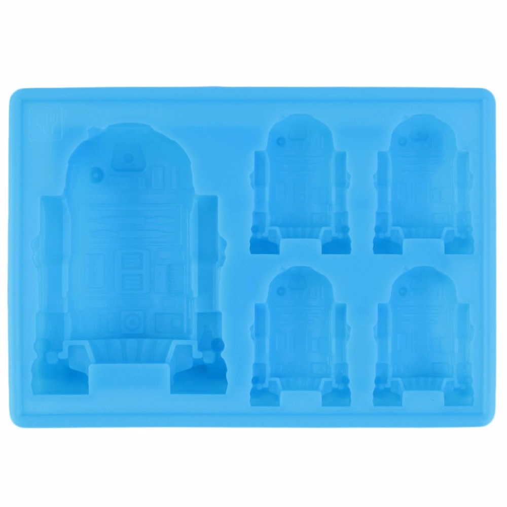 Permalink to 1pc Cute R2-D2 Ice Tray Silicone Mold Cube Chocolate Fondant Moulds Kitchen Cooking Tools for kid's parties