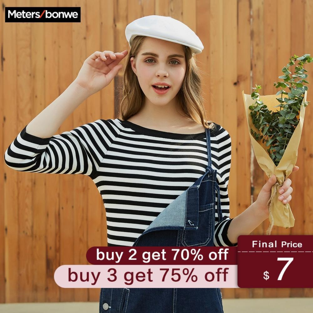 Metersbonwe 2019 Cotton Knitted Sweater Women Pullovers Turtleneck Autumn Winter Basic Women Sweaters Korean Style Slim Fit