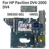 KoCoQin материнская плата для ноутбука hp павильон DV4-2000 DV4 материнская плата 590350-001 590350-501 NAL70 LA-4106P HM55