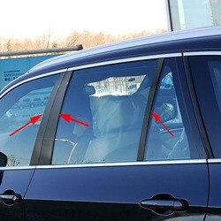 Für BMW Auto Tür Fenster Rahmen Dekoration Trim Aufkleber Carbon Fiber Zubehör B-säulen Form für Neue 3 Serie f30 2013-2017