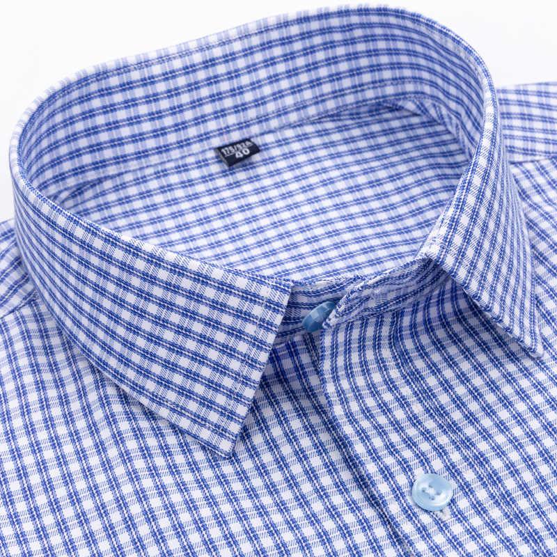 Bolubao 남자 격자 무늬 셔츠 댄스 파티 드레스 셔츠 가을 남성 저녁 고품질 긴 소매 드레스 비즈니스 영국 스타일 셔츠