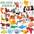 Большие размеры, животные, Кит, крокодил, печать, олень, панда, развивающие игрушки для детей, совместимы с большими размерами, подарки для де...