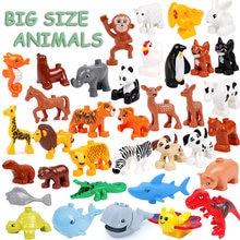 Tamanho grande animais baleia crocodilo selo veados panda iluminação aminal brinquedos para crianças tamanho grande compatível para presentes das crianças