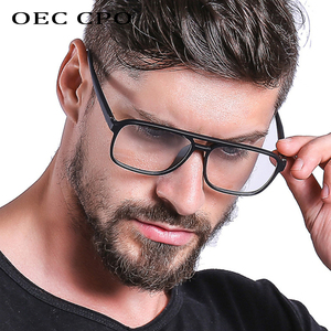 OEC CPO Anti Blue Light Blocking Filter Reduces Digital Eye Strain Fashion Men Optical eye glasses Frame Clear Lens Eyewear O407