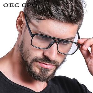 OEC CPO Anti Blue Light Blocking Filter Reduces Digital Eye Strain Fashion Men Optical eye glasses Frame Clear Lens Eyewear O407