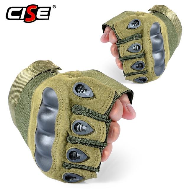 Motorcycle Fingerless Gloves Hard Knuckle Motorbike Motocross Luva Biker Racing Ridding Cycling Half Finger Moto Protective Men 1