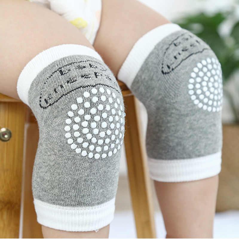 Calentadores de piernas antideslizantes para bebés de 0-2 años rodilleras de gateo de algodón para niños de malla gruesa transpirable