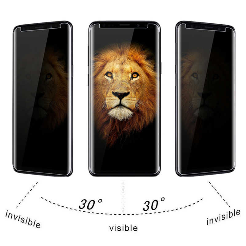 Vidrio Protector Anti espía de privacidad 9H para Galaxy S7 S6 Edge S5 S4 S3 Protector de pantalla para Samsung Galaxy S10 5G S9 S8 Plus