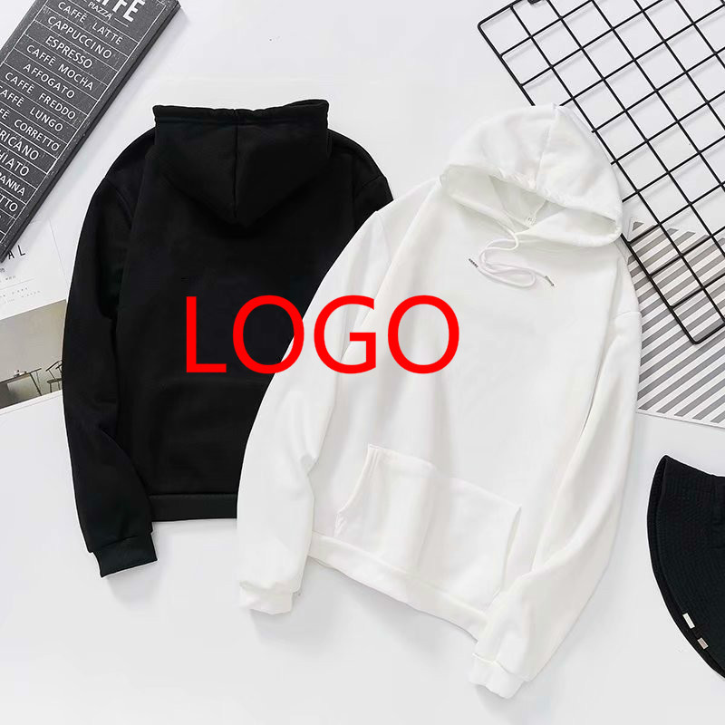 Customized Logo Print Hoodies Wholesale Sweatshirts Cotton Hoodies Unisex DIY Logo Streetwear Drop Shipping Clothing
