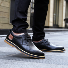 38-48 Luxury Brand Genuine Leather Men Oxford First Layer Cowhide Shoes Casual B