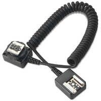 SAMTIAN 1M TTL Off-cámara Flash Sync extensión cable para Canon Nikon Zapata caliente linterna accesorio