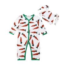 Cute Newborn Kids Baby Boys Girls Carrot Clothes Romper Jump