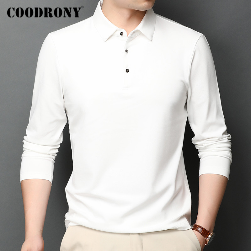 ÷Ultimate SaleCOODRONY Men Shirt Tops Top-Quality Long-Sleeve Business Autumn Spring Homme Casual C5008Ü