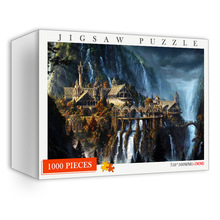 1000 Pieces Wooden Puzzles The Elf Castle Puzzles for Adults Toys Rivendell Jigsaw Puzzle 1000 Pieces Brain Teaser Puzzles Toys