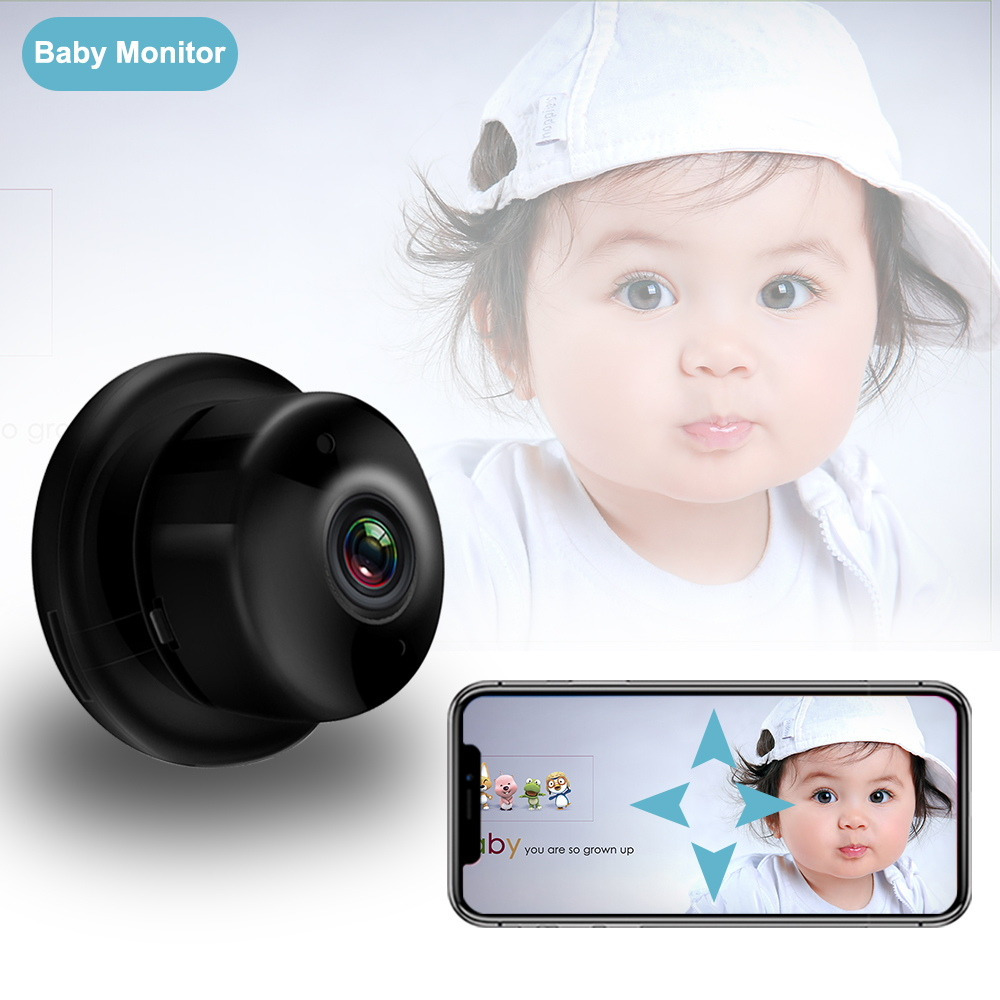 Baby Monitor With Camera Portable HD Night Vision Two Way Audio Baby Sleeping Monitor Home Security Baby Nanny Babyphone Camera