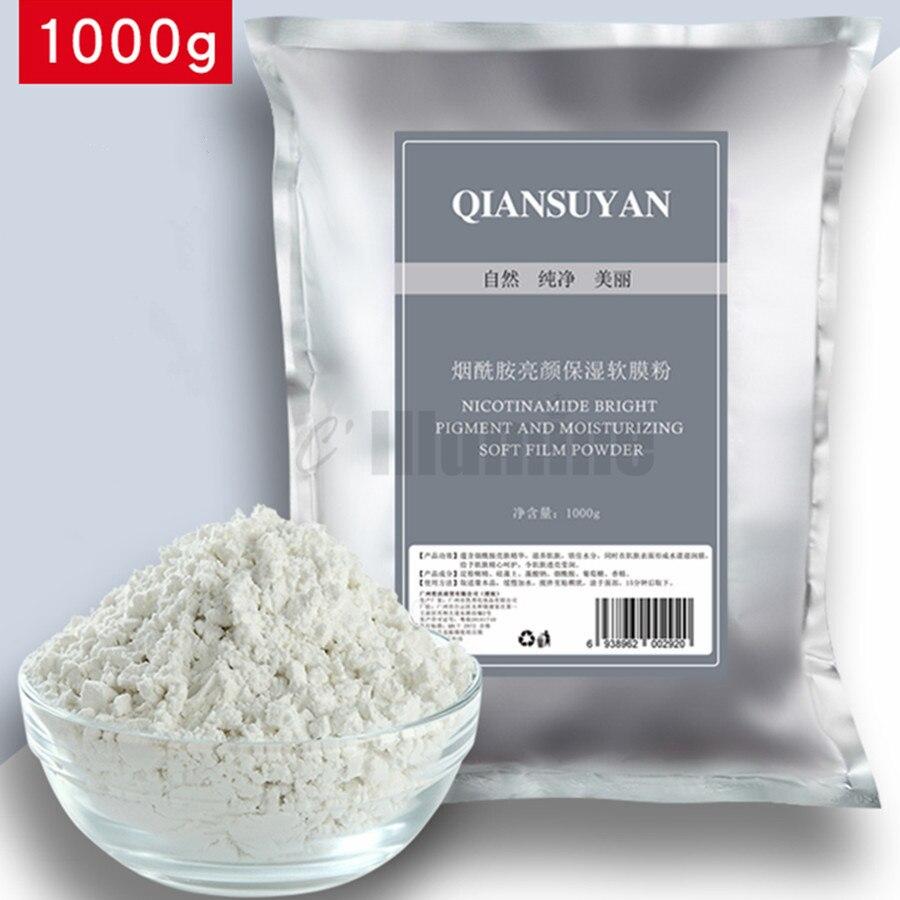 1000g de Nicotinamide suave modelado pelar máscara polvo reposición hidratación brillo piel encogimiento poros salón de belleza