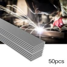 50x Solution Welding Flux-Cored Rods Metalworking CNC 50cm Equipment Tool Set Aluminum Welding Rods 1.6mm / 2mm