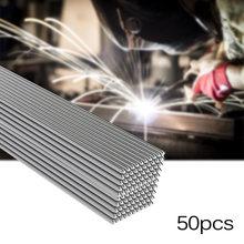 50x Soluzione di Saldatura Flux Animato Barre di Lavorazione Dei Metalli CNC 50 centimetri Set di Strumenti Attrezzature di Alluminio Bacchette per Saldatura 1.6 millimetri/2 millimetri