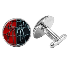 HOT! 2019 New Hot Cool Two-color Spider Pattern Series Glass Convex Cufflinks Mens Fashion Jewelry Gifts