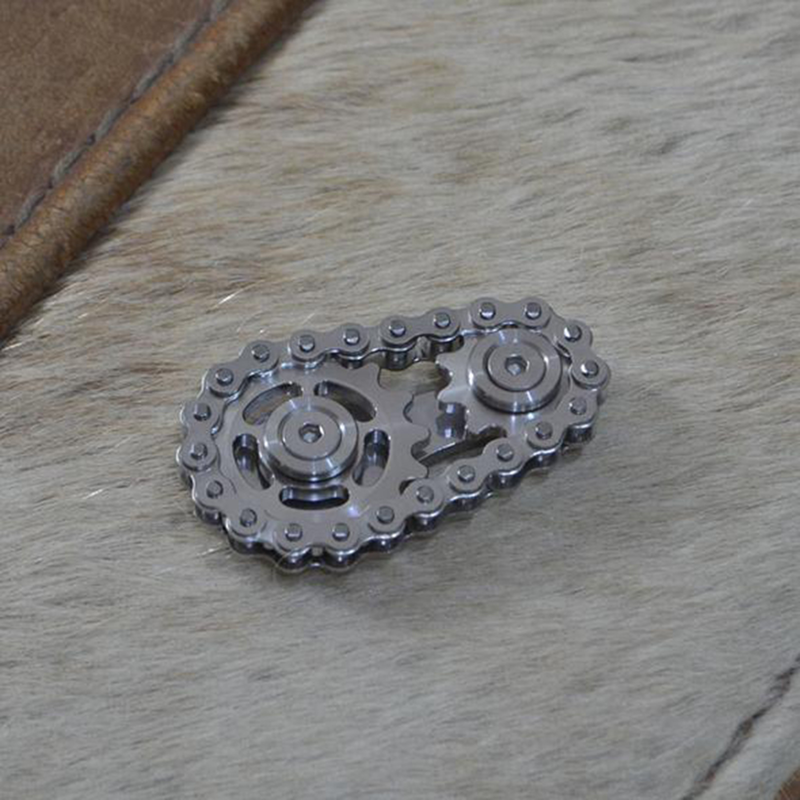 Toys Sprockets Flywheel Fingertip Gyro Sprockets Chains Metal Toy Gear Chain Gyro Sproket Roadbike Spinner Education Toys Gifts enlarge