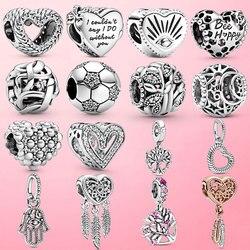 925 prata esterlina abelha feliz favo de mel coração charme grânulos caber pamura original charme pulseira jóias fazendo diy presente