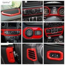 Lapetus Innen Refit Kit Für Jeep Wrangler JL 2018 2019 2020 Air AC/Lautsprecher Audio / Center Console Dashboard abdeckung Trim