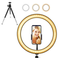 цена на LED Selfie Ring Light  for Live Video Shooting Dimmable Fill Light Photography Light Photography Wedding Makeup