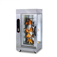 Commercial Vertical Gas Rotary Roast Chicken Oven Barbecue Machine Stainless Steel Glass Gas Roast Duck Oven Electric Stove stainless steel gas oven without burners