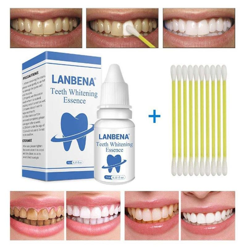 LANBEN Teeth Whitening Powder Gel Oral Hygiene Cleaning Teeth Whitening Removes Plaque Stains Tooth Bleaching