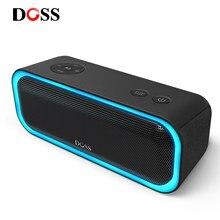 DOSS SoundBox Pro TWS Mini Sans Fil Bluetooth Haut-Parleur Basses Améliorées Son Stéréo Boîte IPX5 Étanche avec LUMIÈRE LED Haut-Parleur