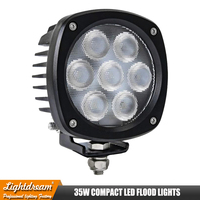 Super Bright 35W 4000Lumens Led Spread / Flood Beam For ATV,SUV,HIGHWAY Road,Offroad Led Driving Work Lights x1pc