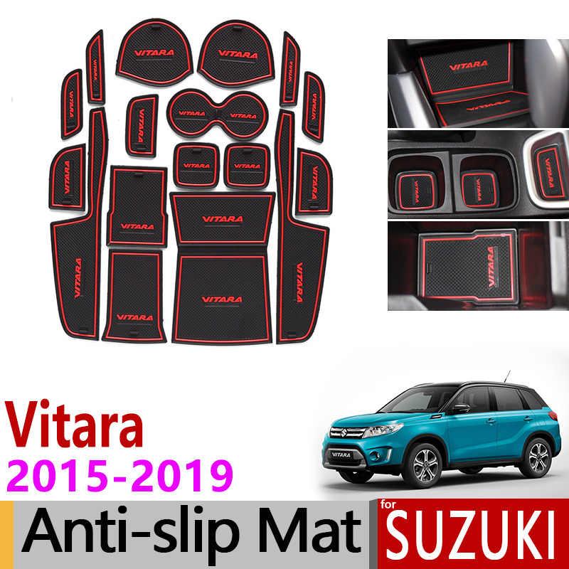 Antypoślizgowa mata do Suzuki Vitara 2015 2016 2017 2018 2019 LY Escudo brama gniazdo Coaster antypoślizgowe drzwi Groove Mat
