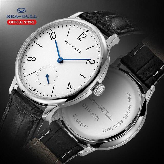 Seagull Marke Uhr ultra dünne mechanische uhr damen uhr mode business leder uhr D 819,612 L
