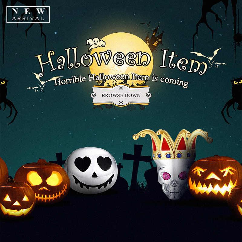 Wostu Halloween Hạt Bạc 925 Đầu Lâu Bí Ngô Đạo Cụ Ảo Thuật Quyến Rũ Phù Hợp Với Ban Đầu Vòng Tay Mặt Dây Chuyền KINH HOÀNG Trang Sức Dự Tiệc