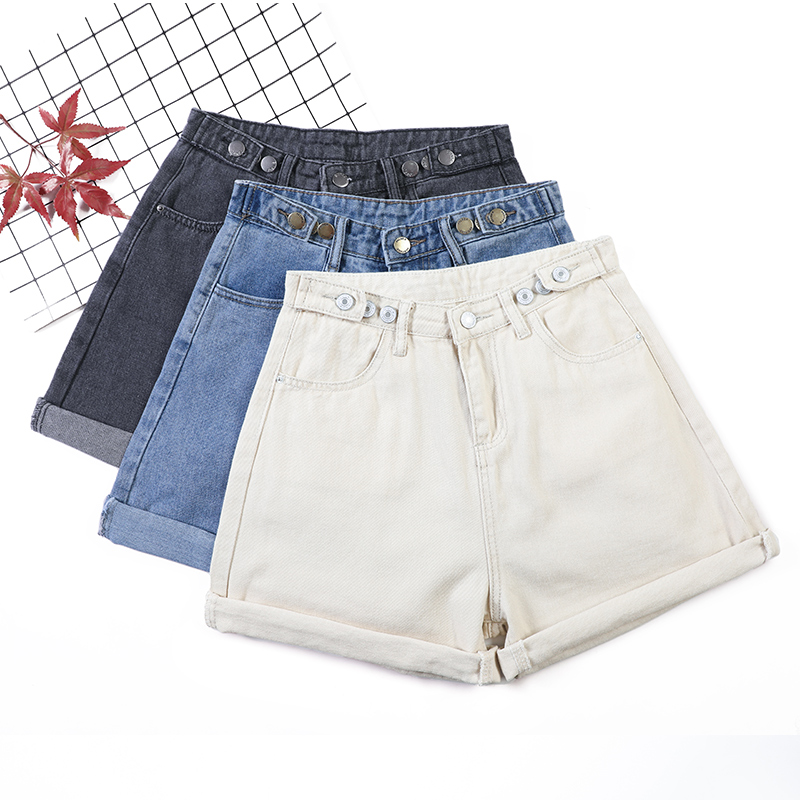 Fitaylor Summer High Waist Crimping Denim Shorts Women Loose Casual Shorts Jeans Chic Short Pants Hot Ladies Bottom