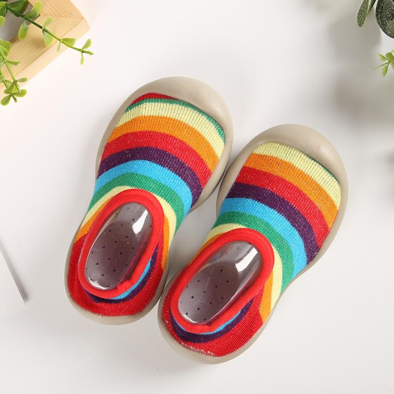 2019 New Kids Shoes Socks Toddler Home Shoes Non-slip Cartoon Kids Socks Children Shoes Soft Rubber Soled Slippers