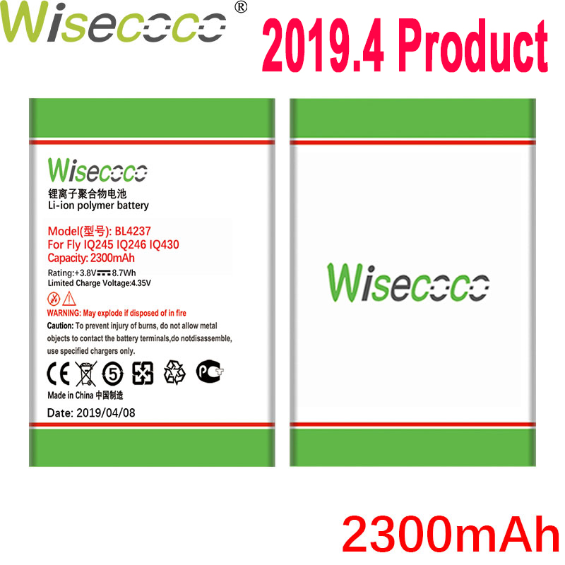 WISECOCO 2300mAh BL4237 Battery For Fly IQ245 IQ246 IQ430 Phone In Stock Latest Production High Quality Battery+Tracking Number image