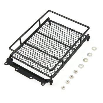 T-de techo de Metal Rack Luggage Carrier con 4 luces de la barra para 1/10 coche RC Rock Crawler HIP CC01 AXIAL SCX10 RC4WD D90