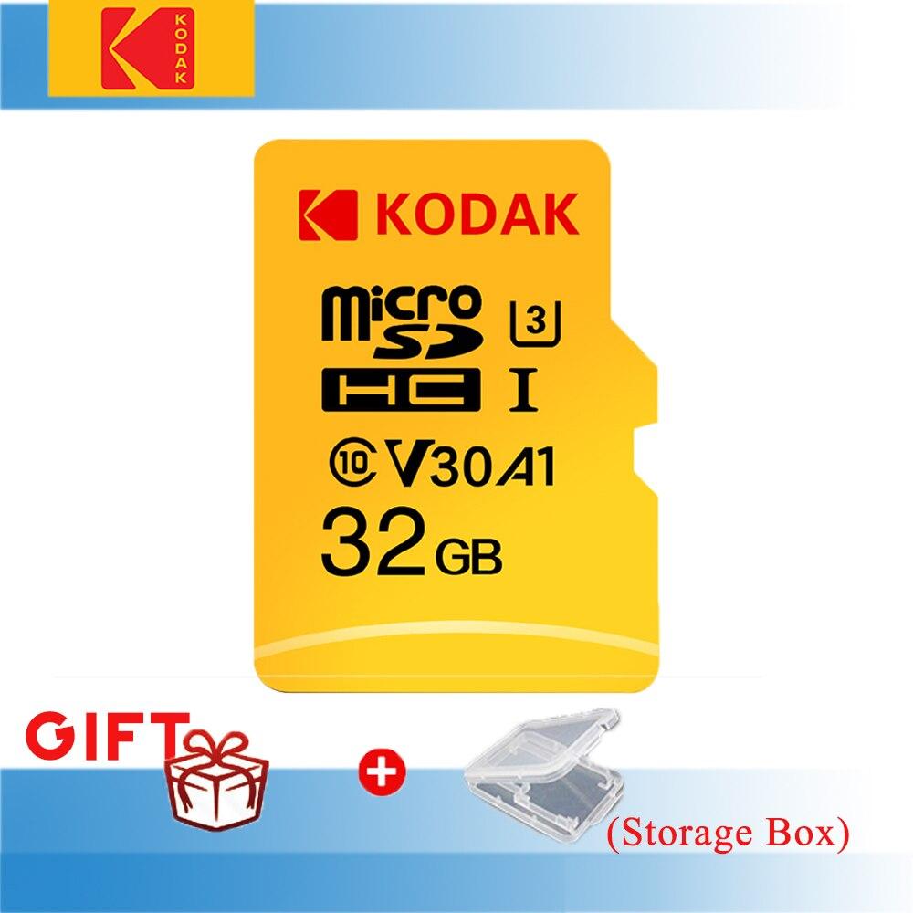Kodak Original de alta velocidad tarjeta Micro SD 32GB 64GB 128GB 256GB tarjeta de memoria Class10 U3 4K cartao de memoria de tarjeta de memoria flash