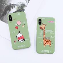 Phone Case For iPhone 6 6s 7 8 Plus X XR XS Max Cute Green dinosaur panda rabbit Soft TPU For iPhone 6 7 8 Plus Cover Back зажимы для денег colibri t10010mc