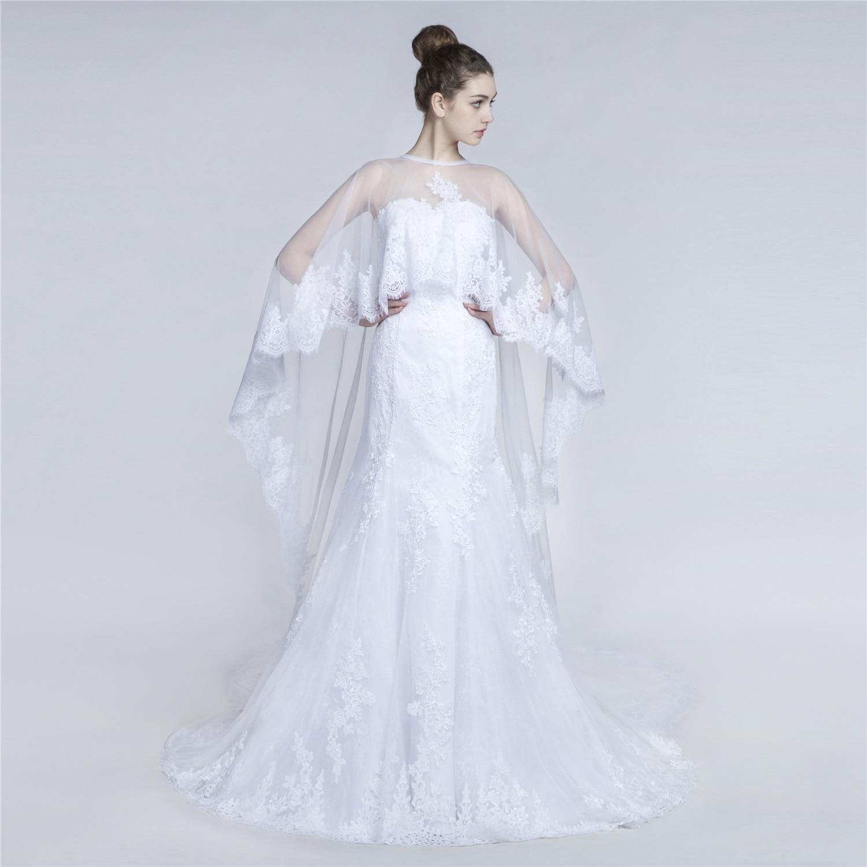 Luxury Lace Wedding Dresses White Bridal Dress Party Gala Gowns Boho Plus Size Wedding Dress Sexy Mermaid Dresses For Women 2019