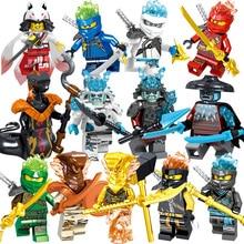 цена на Ninja Mini action Figures Building Blocks Kids Toy Gift Compatible Ninjagoed For Kids fantasia ninja