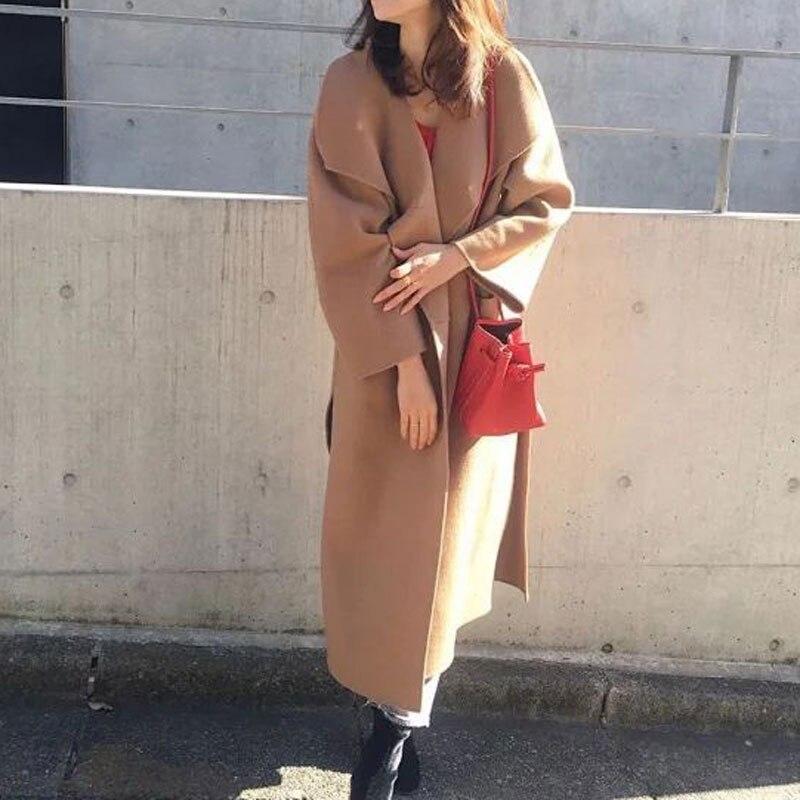 €121.62 17% OFF|Frauen Graben Nordic Wolle Kaschmir Doppel konfrontiert Langen Mantel (ohne label)-in Wolle & Mischungen aus Damenbekleidung bei AliExpress