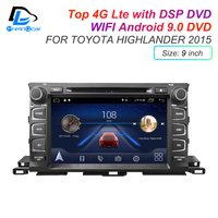 IPS touch screen DSP soundAndroid 9.0 2 DIN 4g Lte radio For TOYOTA Highlander 2015 GPS DVD player stereo navigation