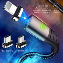 MCDODO 3A USB Magnetic Cable Fast Charging Micro USB Charger Cord Magnet Type C Phone Cable For iPhone XS MAX Android Samsung(China)